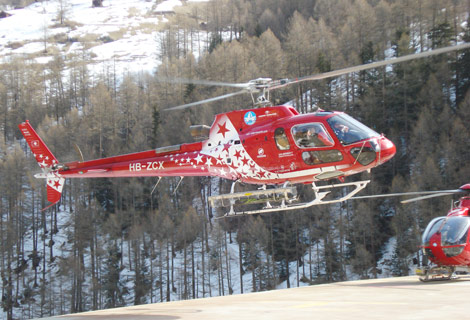 human sling operation, air zermatt training, fishtail air's official training