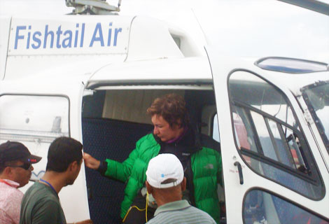 Patient rescued from Manaslu region