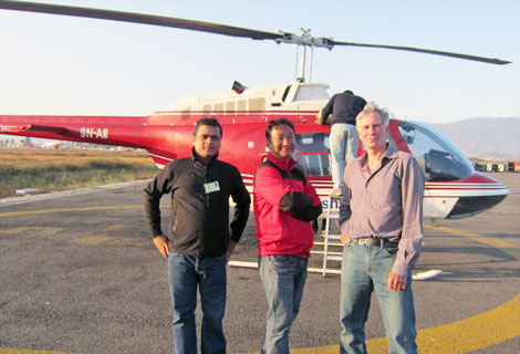 David Breashears with Fishtail Air's Crew @ TIA