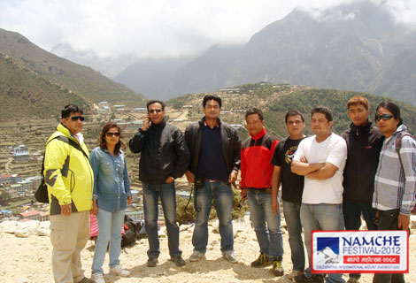Fishtail Air crew for Namche Festival